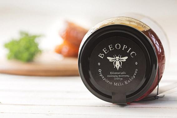 单色系彰显蜂蜜包装设计的质感